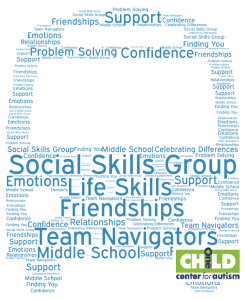 Team Navigators Social Skills Group for Middle School Students